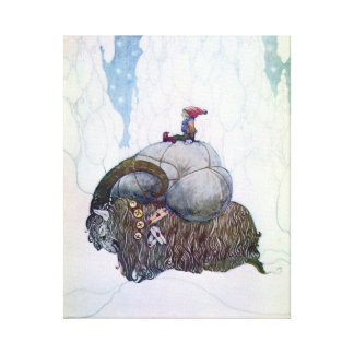 Julebukking - Swedish Christmas Goat by John Bauer Canvas Print