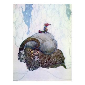 """Julebukking"" Vintage Scandinavian Christmas Goat Postcard"