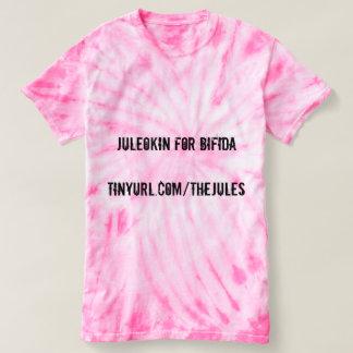 Juleokin For Bifida Pink Tiedie Women's T-shirt