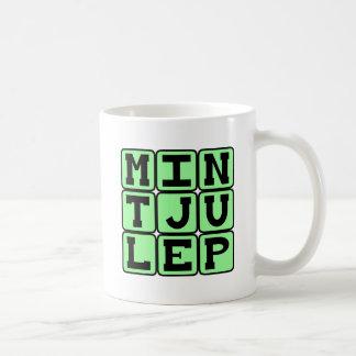 Julep de menta, bebida de menta taza básica blanca
