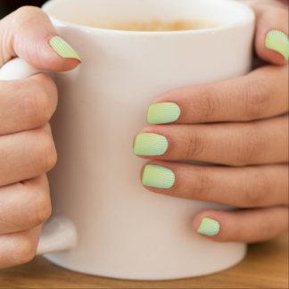 Julep de menta pegatina para uñas