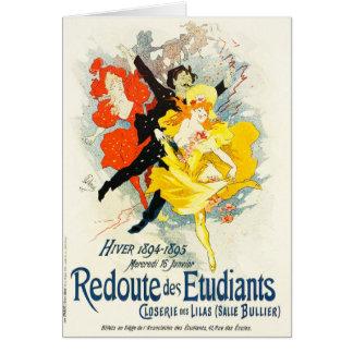Jules Cheret Art Nouveau Card