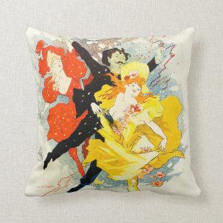 Jules Cheret Art Nouveau Pillow