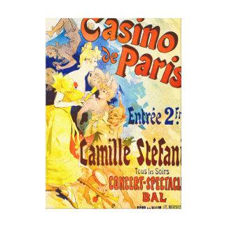 Jules Cheret Casino de Paris Theater Advertisment Canvas Print