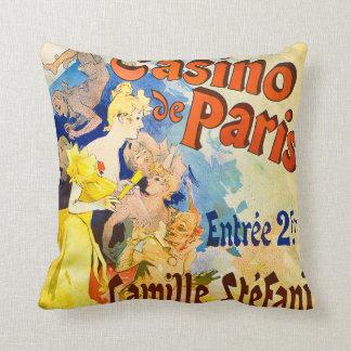 Jules Cheret Casino de Paris Theater Advertisment Throw Pillow