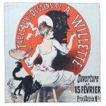 Jules Cheret Exposition Art Nouveau Napkins