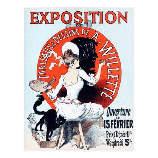 Jules Cheret Exposition Art Nouveau Postcard