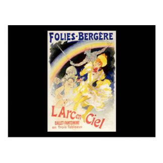 Jules Cheret Folies-Bergere L'Arc-en-Ciel Postcard