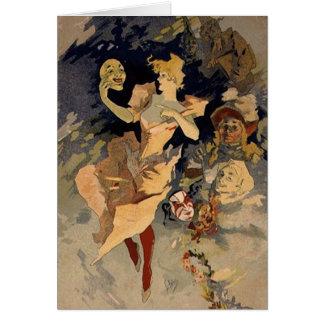 Jules Cheret 'La Danse' 1891 Card