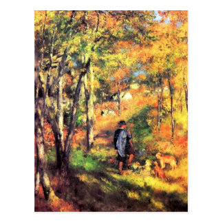Jules le Coeur and his dogs by Pierre Renoir Post Card
