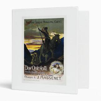 Jules Massenet's Don Quichotte 3 Ring Binder