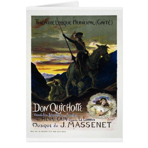 Jules Massenet's Don Quichotte Greeting Card