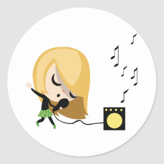 Jules the Singer Classic Round Sticker
