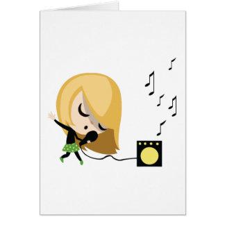 Jules the Singer Greeting Card