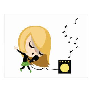 Jules the Singer Post Card