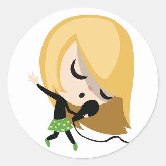 Jules the Singer Sticker