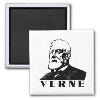 Jules Verne 2 Inch Square Magnet