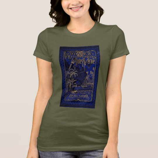 Jules Verne A Floating City Antique Book Cover T-Shirt