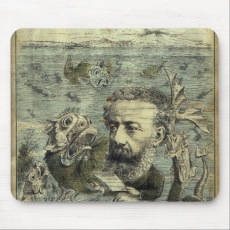 Jules Verne Algerie Illustration Mouse Pad