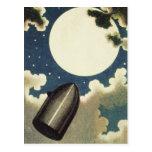 Jules Verne de la tierra a la luna (1865) Postales