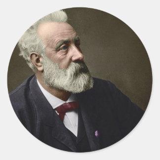 Jules Verne en 1892 Pegatina Redonda