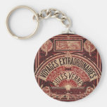 """JULES VERNE """"EXTRAORDINARY VOYAGES"""" (1878) KEYCHAINS"""