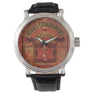 Jules Verne Extraordinary Voyages Antique Book Wrist Watches