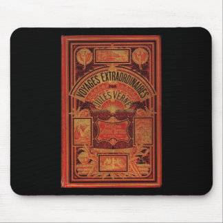 Jules Verne Extraordinary Voyages Book Cover Mouse Pads