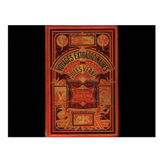 Jules Verne Extraordinary Voyages Book Cover Postcard