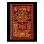 Jules Verne Extraordinary Voyages Book Cover Post Card