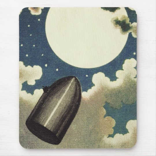 Jules Verne From the Earth to the Moon (1865) Mouse Pad