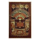 Jules Verne Old Book Cover Posters