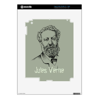 Jules Verne the steampunk writer Decal For iPad 2