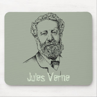 Jules Verne, the steampunk writer Mouse Pad
