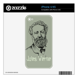 Jules Verne the steampunk writer Skin For iPhone 4