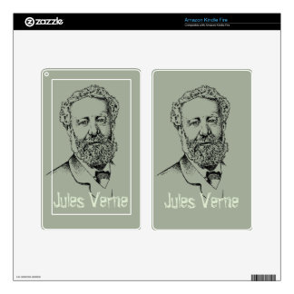 Jules Verne, the steampunk writer Skin For Kindle Fire