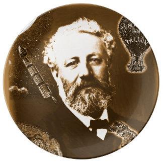 Jules Verne tributes Porcelain Plate