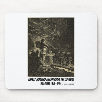Jules Verne Twenty Thousand Leagues Funeral Mouse Pads