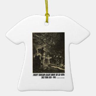 Jules Verne veinte mil ligas fúnebres Adorno De Cerámica En Forma De Camiseta