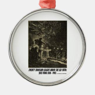 Jules Verne veinte mil ligas fúnebres Adorno Redondo Plateado