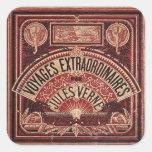 "JULES VERNE ""VOYAGES EXTRAORDINAIRES"" (1878) SQUARE STICKER"