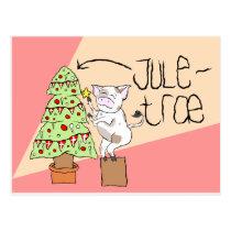 Juletræ postcard