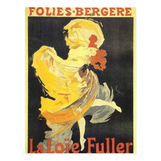 julets Cheret Poster Art Postcard
