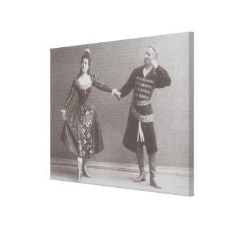 Julia and Felix Kschessinsky in the mazu Canvas Print