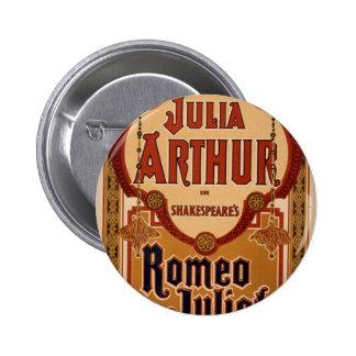 Julia Arthur in Romeo and Juliet Retro Theater Button