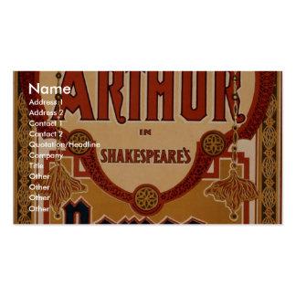 """Julia Arturo, en el teatro retro de """"Romeo y de Ju Tarjetas De Negocios"""