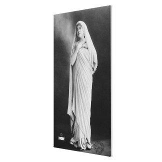 """Julia Bartet en """"Antigone"""" por Sophocles Impresión En Tela"""