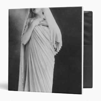 Julia Bartet  in 'Antigone' by Sophocles 3 Ring Binder
