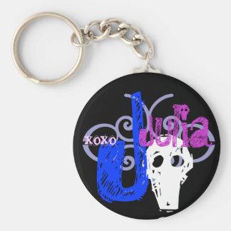 Julia Basic Round Button Keychain