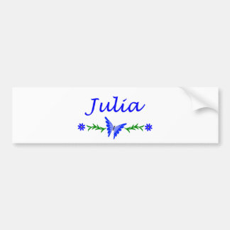 Julia (Blue Butterfly) Bumper Sticker